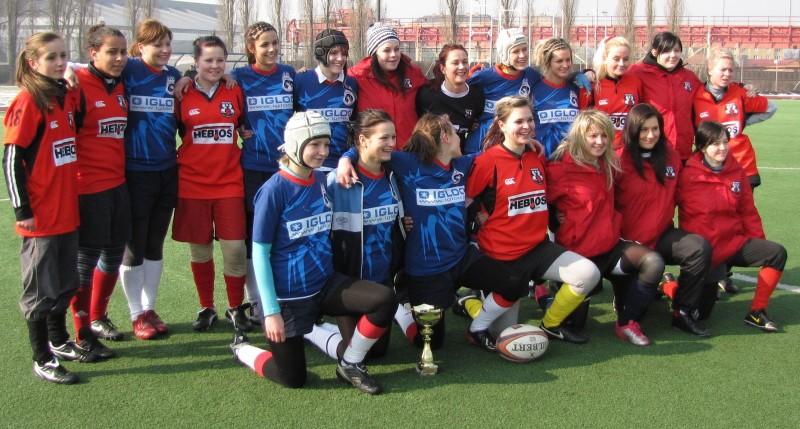 Společný tým Ostravy a našich děvčat na Winter Cupu 2011